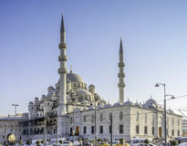 New Mosque. The Yeni Mosque, New Mosque or Yeni Cami is an Ottoman imperial mosque located in the Eminonu district of Istanbul, Turkey. It is situated on the Royalty Free Stock Photography