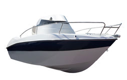 New motor speedboat over white Stock Photos