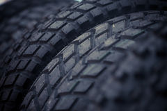 New motorcycle tires Stock Images