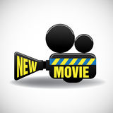 New movie cinema projector Royalty Free Stock Images