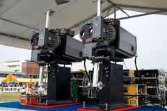 New Movie Projectors. New Movie Projectors Prepared for The Outdoor Movies Festival Stock Photos