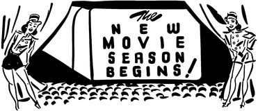 New Movie Season Begins Royalty Free Stock Photo