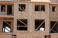 New multi home under construction Royalty Free Stock Image
