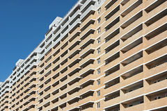 New multi-storey residential building close up Royalty Free Stock Image