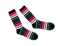 New Multicolor Striped Cotton Socks Stock Images