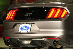 New muscle car rear Stock Photo