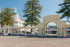 The New Napier Arch and Colonnades Napier New Zealand Royalty Free Stock Images