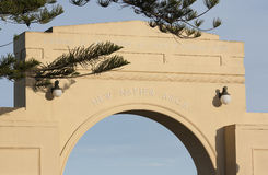New Napier Arch. The New Napier Arch structure on Marine Parade.  Napier, New Zealand Stock Photography