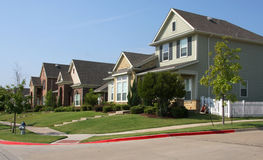 New neighborhood building in countryside stock images