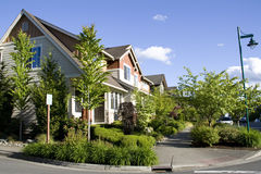 New neighborhood houses Royalty Free Stock Photography