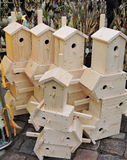 New nesting-box for birds Royalty Free Stock Photography