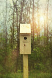 New Nesting Box Set Out For Spring Stock Photo