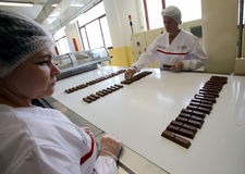 New Nestle production line Stock Images