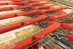 New Netto shopping carts Stock Photos