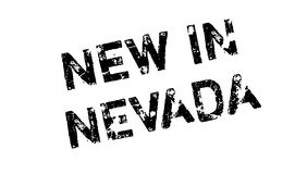 New In Nevada rubber stamp Stock Image