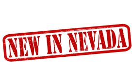 New in Nevada. Stamp with text new in Nevada inside,  illustration Stock Images