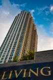 New, New Jersey. A new highrise apartment building in Jersey City, NJ Stock Photo