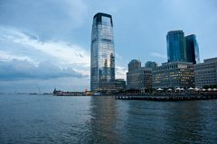 New New Jersey. A Hudson River-side building in Jersey City, NJ Royalty Free Stock Photos
