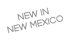 New In New Mexico rubber stamp Stock Image