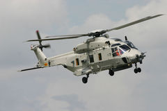 The NEW NH90 Helicopter. In full action Stock Photography