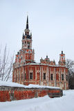 New-Nikolsky cathedral in Mozhaisk. New-Nikolsky cathedral in the city of Mozhaisk situated near Moscow, in Russia. Gothic style, ancient architecture Stock Image