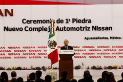 New Nissan car plant in Mexico Stock Photography