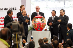 New Nissan car plant in Mexico. With an investment of two billion dollars, Nissan Motor Company built in Aguascalientes, Mexico a second automotive production Royalty Free Stock Images
