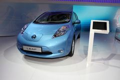 The new Nissan Leaf Royalty Free Stock Photo