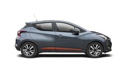 New Nissan Micra isolated on white Stock Photography