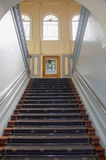 New Norcia Hotel: Grandiose Stairs. NEW NORCIA,WA,AUSTRALIA-JULY 15,2016:  Grandiose carpeted staircase in the historic New Norcia Hotel and tourist attraction Stock Image