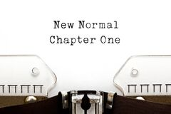 Free New Normal Chapter One Typewriter Concept Stock Image - 196010591