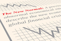 The New Normal. Close up to the definition of the term The New Normal which has become popular in economics. Vector illustration, eps10 Royalty Free Stock Images