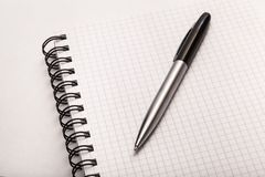 New. Note pad pen self notebook vow Stock Photography