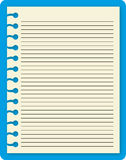 New notebook. Notebook blank line in isolate photo by Royalty Free Stock Photo