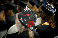 New Nurses: University Graduates with BSN Degrees Royalty Free Stock Photography