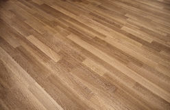 New oak parquet. Of brown color royalty free stock photo