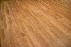 New oak parquet. Of brown color stock photo