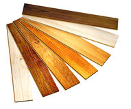 New oak parquet. Of different colors. Isolated on white background stock illustration