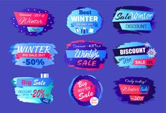 New Offer Discounts Big Winter Sale Collection Ad Stock Image