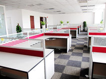 New office area. In an office building Stock Images