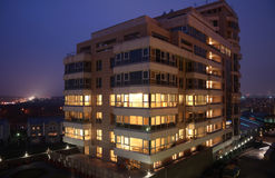 New Office building at evening Royalty Free Stock Images
