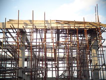 New office or townhouse building under construction Stock Photo