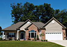 New Ohio Home. Large, newly constructed home in a suburb of Cleveland Ohio royalty free stock photos