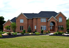 New Ohio Home. Large, newly constructed home in a suburb of Cleveland Ohio stock photo