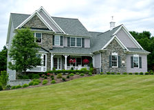 New Ohio Home. Large, newly constructed home in a suburb of Cleveland Ohio Royalty Free Stock Photo