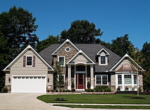 New Ohio Home. Large, newly constructed home in a suburb of Cleveland Ohio Stock Image