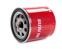 New Oil Filter Car In Red Steel Case Stock Image