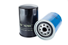 New oil filter. On a white background stock photos