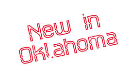New In Oklahoma rubber stamp Stock Images