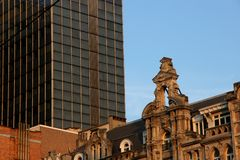 New and old architecture. Old and new architecture. Bryssels Europe royalty free stock photos